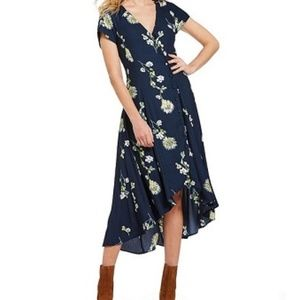 Free People Lost In You Wrap Midi Dress